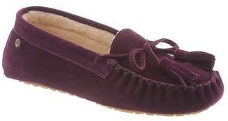 BearPaw Women's Rosalina Casual Slippers, Purple Cow Suede, Wool, Sheepskin, 10 M