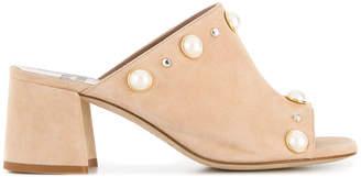 Gianna Meliani pearl embellished mules