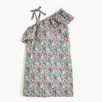 Girls' asymmetrical ruffle dress in Liberty® Emma & Georgina floral