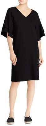 Lauren Ralph Lauren Ponte Flutter-Sleeve Shift Dress