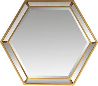 Willa Arlo Interiors Ayansh Hexagon Metal Wall Mirror