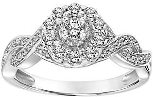 Affinity Diamond Jewelry Vintage Inspired Diamond Ring, 14K, 4/10 cttw,by Affinity
