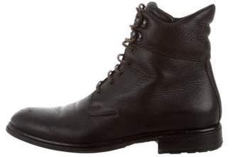 Giorgio Armani Round-Toe Ankle Boots