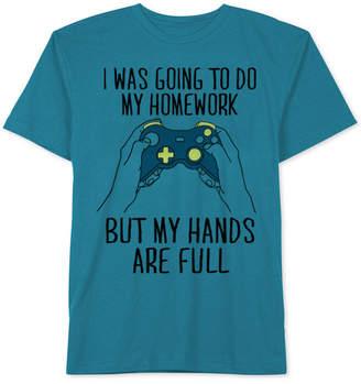 JEM Video Games Graphic-Print Cotton T-Shirt, Big Boys