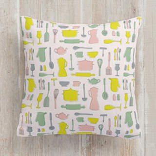 Retro Kitchen Square Pillow