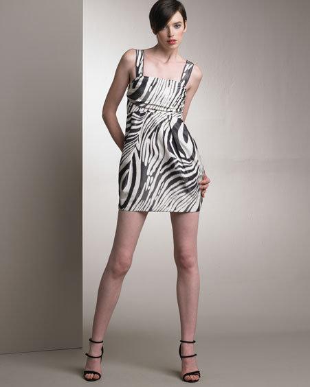 Derek Lam Silk Zebra Print Dress