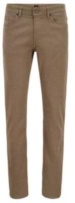 BOSS Hugo Slim-fit jeans in two-colored micro-structured denim 32/34 Beige
