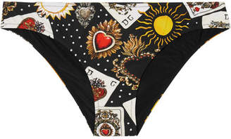 Dolce & Gabbana Printed Bikini Briefs - Black