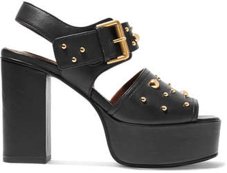 See by Chloe Studded Leather Platform Sandals - Black