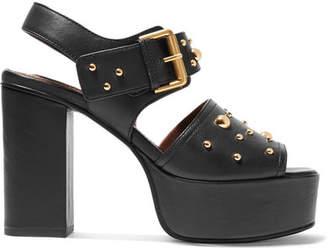 See by Chloe Studded Leather Platform Sandals - Black