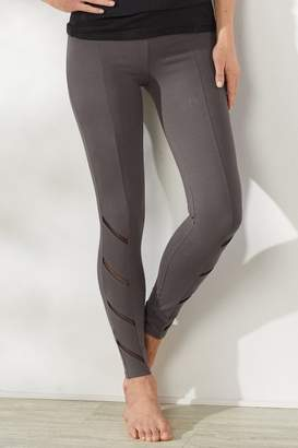Soft Surroundings Yummie Ankle Leggings with Mesh Trim