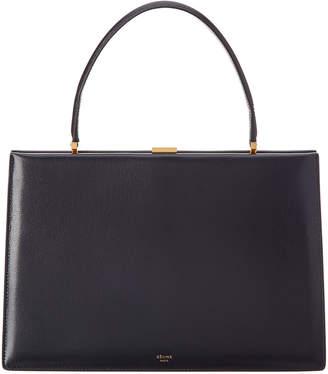 Celine Medium Clasp Leather Satchel