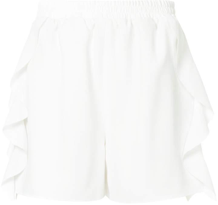 Goen.J lace striped track shorts