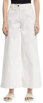 Elizabeth and James Ace Wide-Leg Ankle-Length Denim Pants