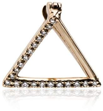 Shihara 18k yellow gold diamond triangle earring
