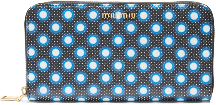 Miu Miu MIU MIU Polka-dot leather continental wallet