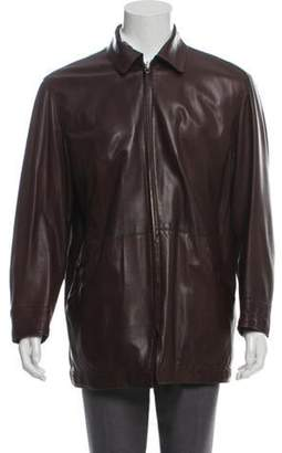 Salvatore Ferragamo Reversible Leather Jacket brown Reversible Leather Jacket