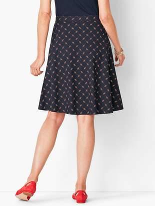 Talbots Knit Jersey Skirt - Printed