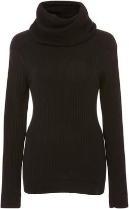 Courreges Ribbed Cotton And Cashmere-Blend Turtleneck Sweater