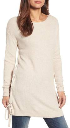 Caslon Side Tie Seed Stitch Tunic Top (Regular & Petite)
