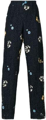 No.21 embroidered lace trousers