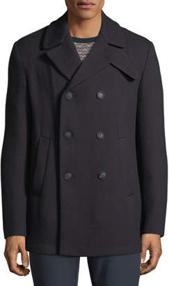 Emporio Armani Men's Wool Double-Breasted Pea Coat