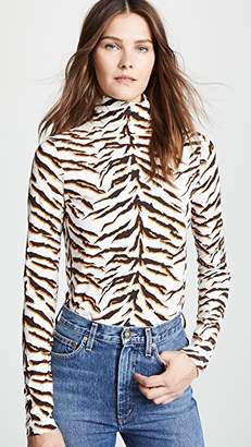 MiH Jeans Bay Garnett Tiger Turtleneck