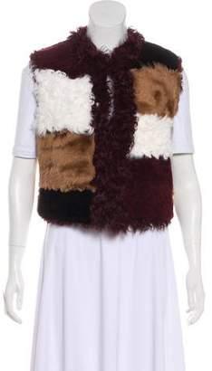 Jocelyn Striped Fur Vest