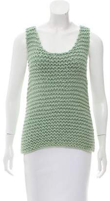 Fendi Sleeveless Chunky Knit Sweater