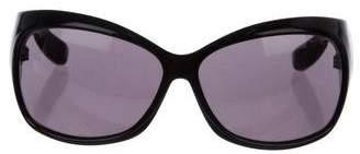 Alexander McQueen Shield Tinted Sunglasses
