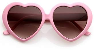 Zerouv Large Oversized Womens Heart Shaped Sunglasses Cute Love Fashion Eyewear