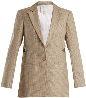 Tibi Cooper checked wool-blend blazer