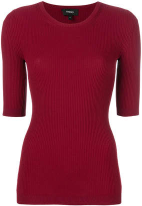 Theory slim fit knitted top