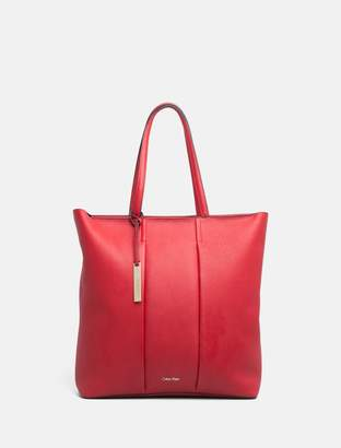 Calvin Klein pebble leather large tote bag