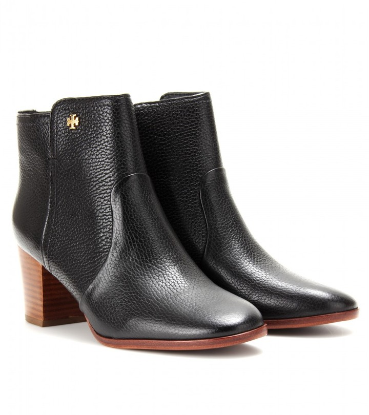 Tory Burch SABE LEATHER ANKLE BOOTS