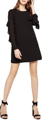 BCBGeneration Ruffle Detail Long-Sleeve Shift Dress