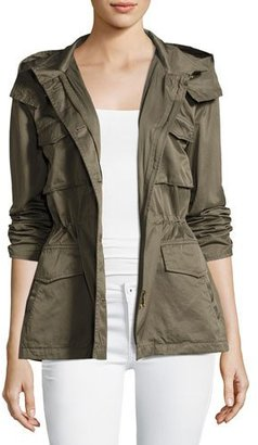 Joie Hanni B Hooded Safari Jacket, Green $398 thestylecure.com