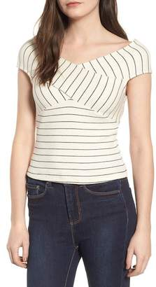Lush Crisscross Off-the-Shoulder Blouse
