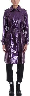 Marc Jacobs Purple Vinyl Trench Coat