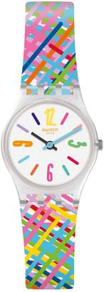 Swatch Listen To Me Tadelakt Multicoloured Silicone-Strap Watch