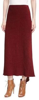 Rosetta Getty Chenille Godet-Back Midi Skirt, Dark Red