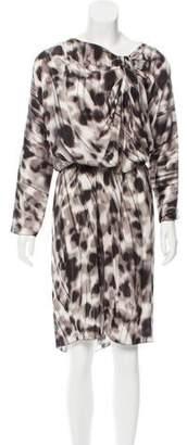 Salvatore Ferragamo Knee Length Silk Dress