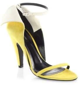 Calvin Klein Camrin Winged Suede Ankle-Strap Sandals
