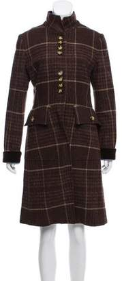 Etro Plaid Knee-Length Coat