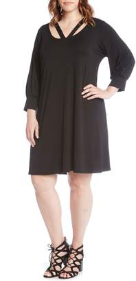 Karen Kane Taylor Cross Front A-Line Dress