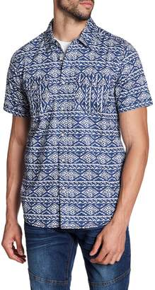 X-Ray Patterned Short Sleeve Slim Fit Shirt