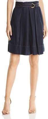 Donna Karan Belted Denim Skirt