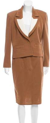 Sonia Rykiel Wool Colorblcok Skirt Suit