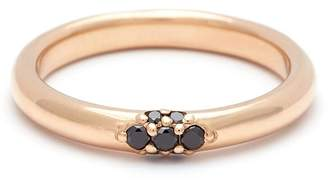 Black Diamond Anna Sheffield Single Cluster Celestine Band Ring - Yellow Gold