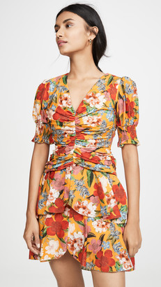 Nicholas Puff Sleeve Pintuck Dress